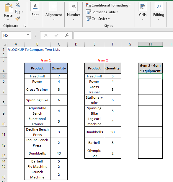 List comparison - VLOOKUP To Compare Two Lists