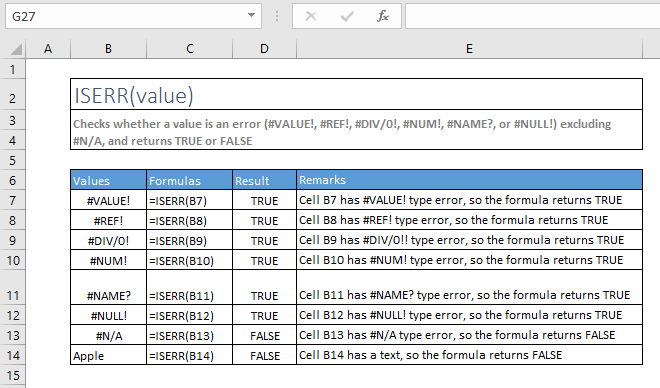 iserr function excel syntax and examples