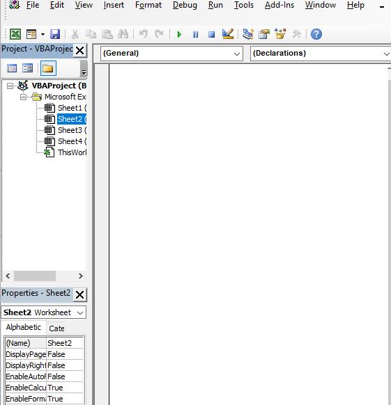 Code window - Excel Drop Down List Multiple Selection