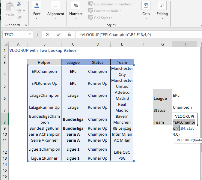 Insights 2 - VLOOKUP with Two Lookup Values