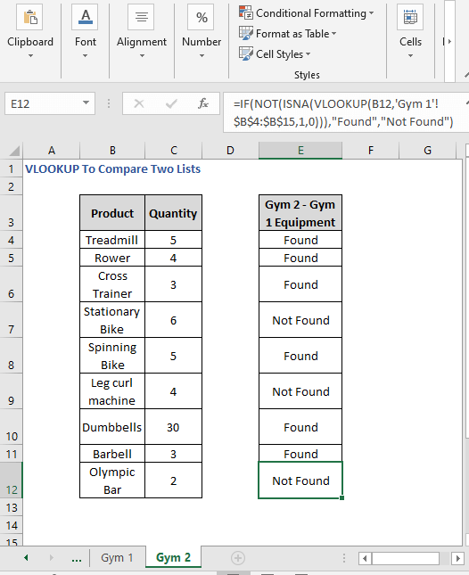 Different sheet formula Autofill - VLOOKUP To Compare Two Lists