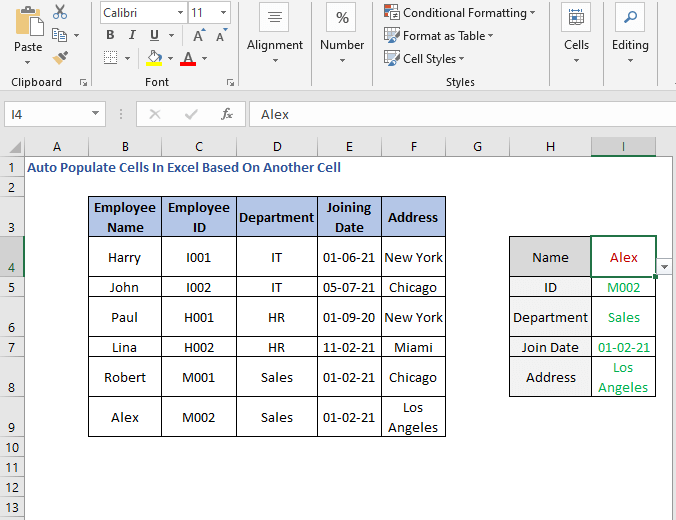 Populated cell - Auto Populate Cells In Excel Based On Another Cell