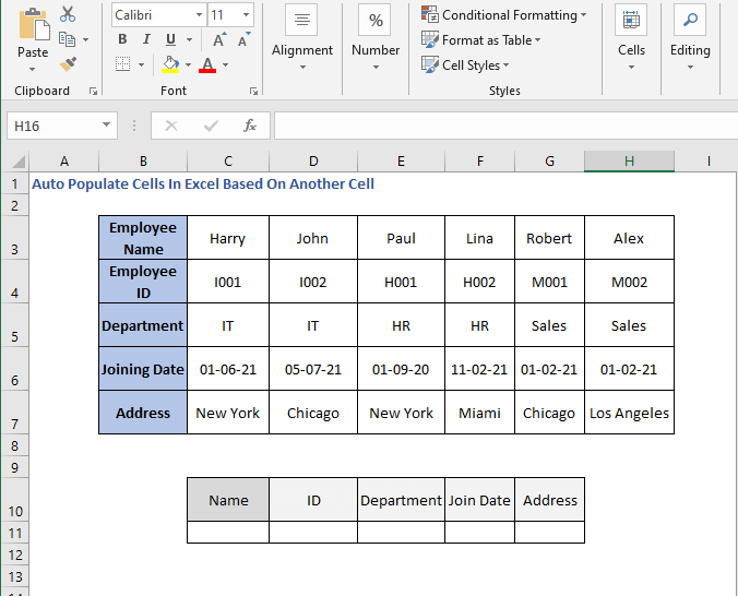Row values - Auto Populate Cells In Excel Based On Another Cell
