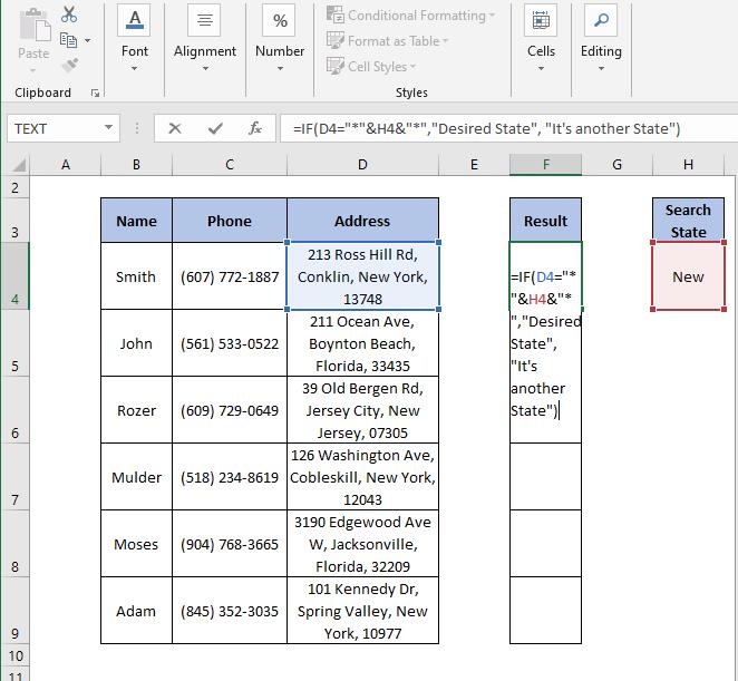 IF partial Formula - IF Partial Match Excel