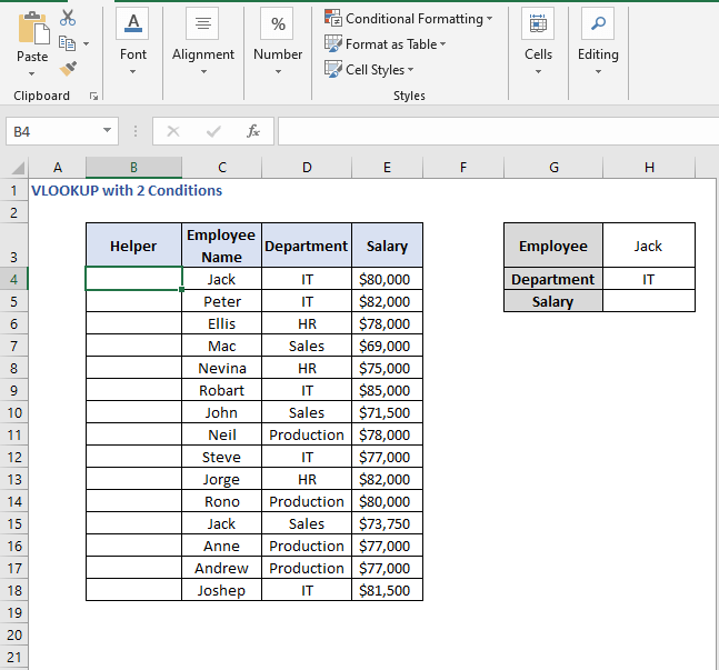 Helper column - VLOOKUP with 2 Conditions