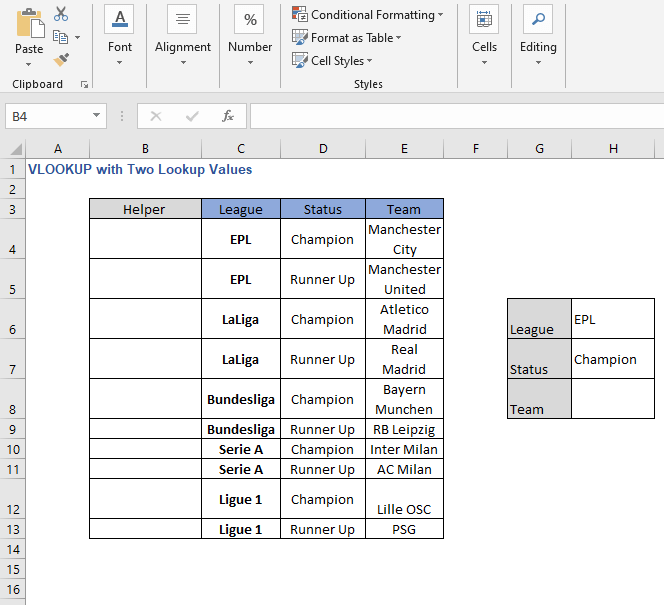 Helper column - VLOOKUP with Two Lookup Values