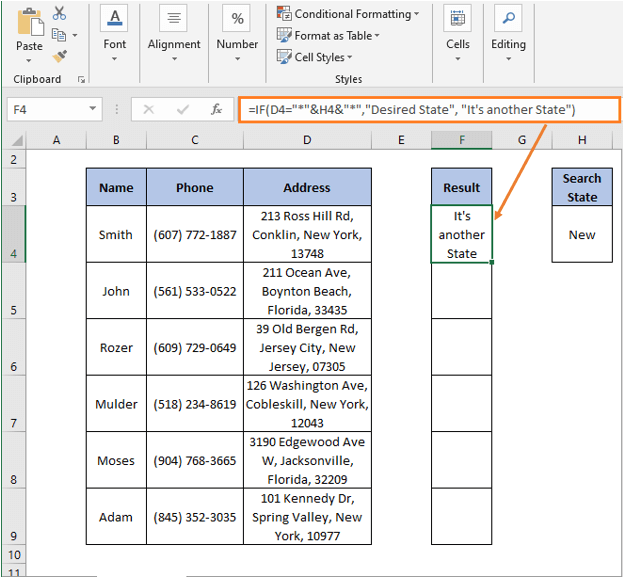 IF Formula result - IF Partial Match Excel