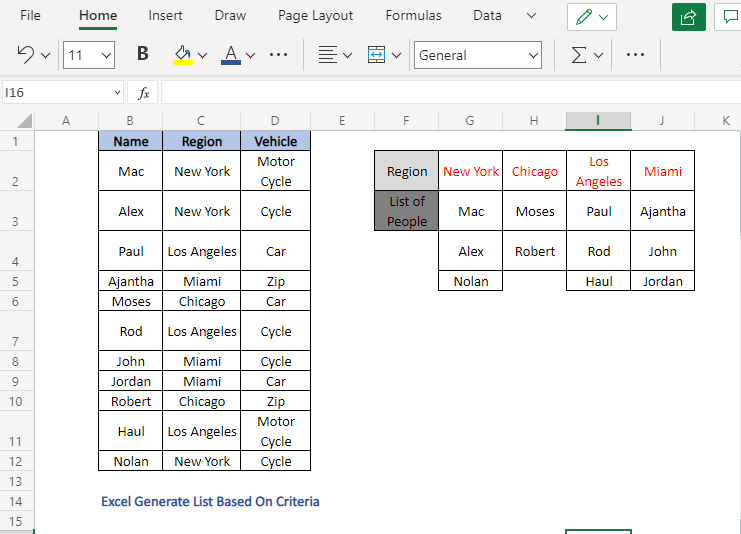 Complete the lists - Excel Generate List Based On Criteria