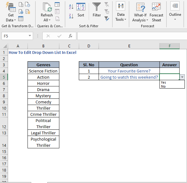 Drop Down List 2 - How To Edit Drop Down List In Excel