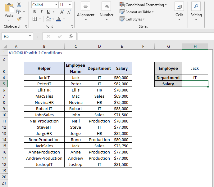 Values in helper column - VLOOKUP with 2 Conditions