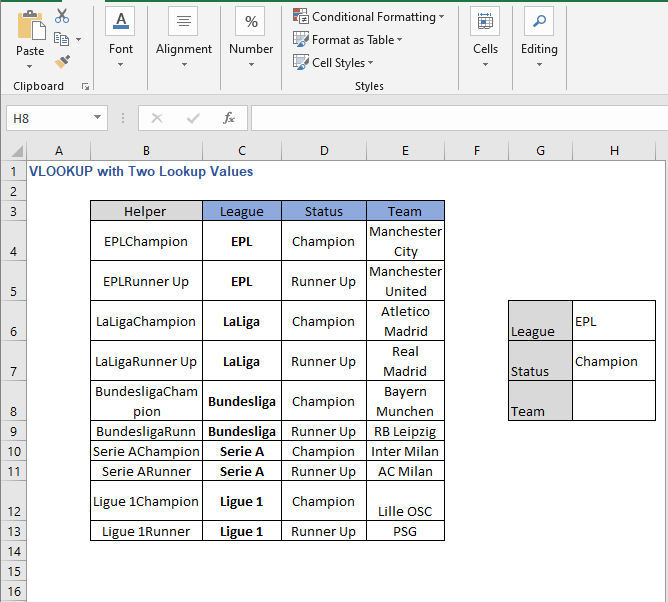 Helper column Autofill - VLOOKUP with Two Lookup Values