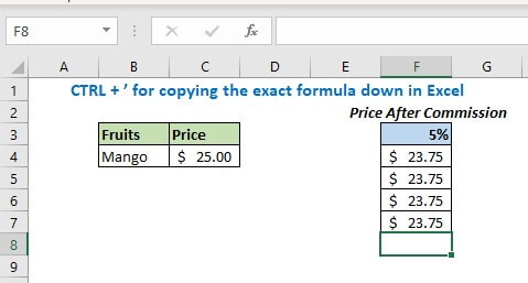 This way you can make multiple copies of this formula