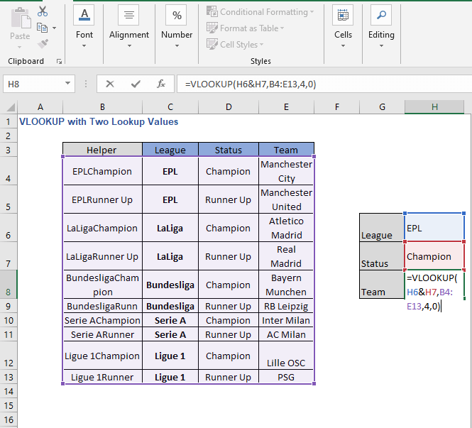 Ampersand join - VLOOKUP with Two Lookup Values