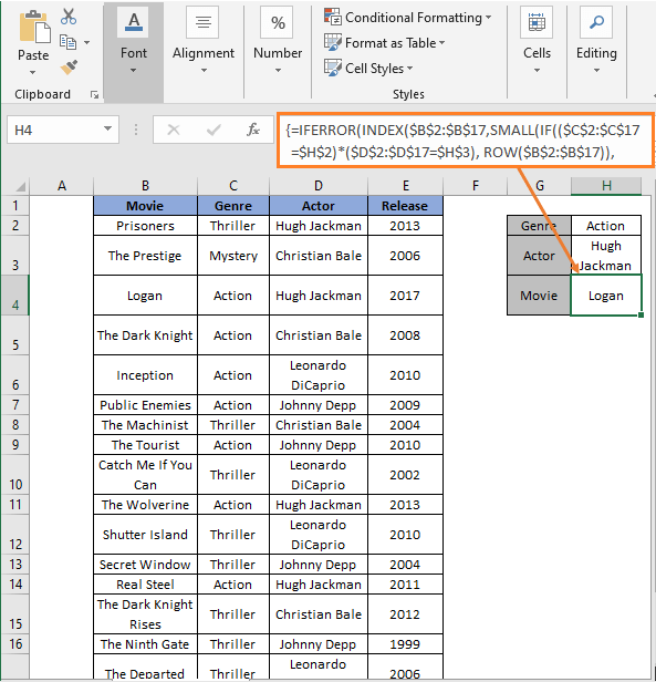 INDEX-SMALL Formula - Excel Extract Data From Table Based On Multiple Criteria