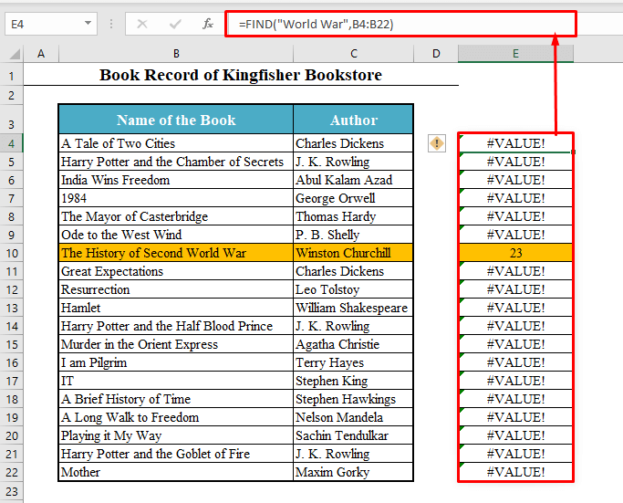 FIND Function to COUNTIF Cell Contains Specific Text