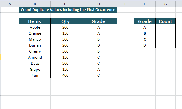 creating table