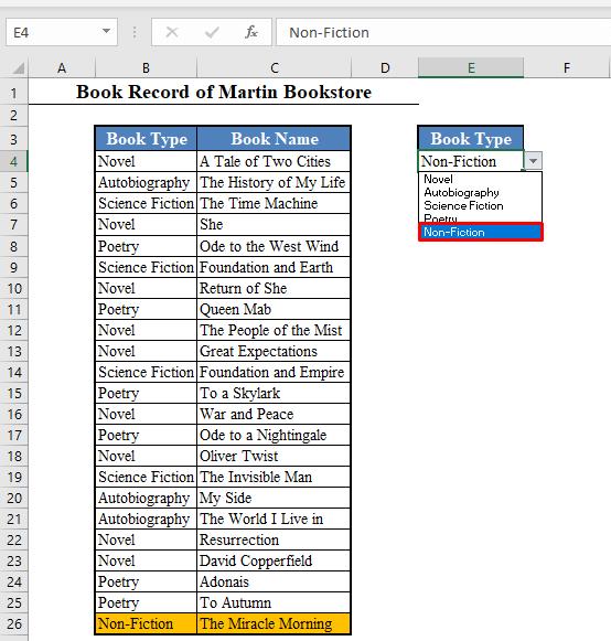 Primary Dynamic Drop Down List