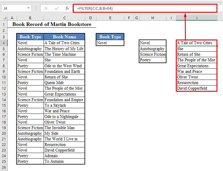 Formula for Second Drop Down List