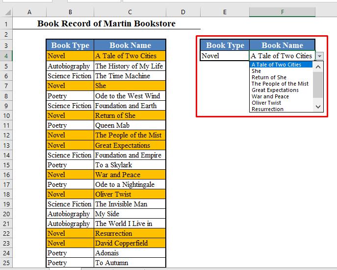 Dynamic Second Drop Down List