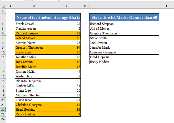 A Dynamic List in Excel