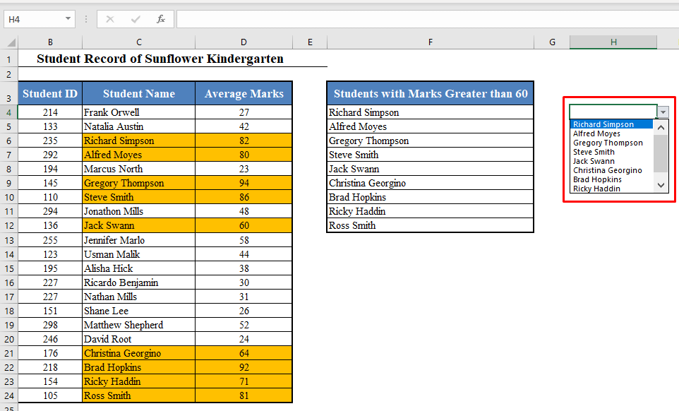 Dynamic Drop-Down List Created in Excel