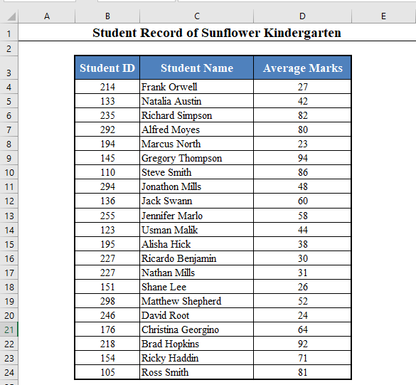 Data Set to Create Dynamic List in Excel Based on Criteria