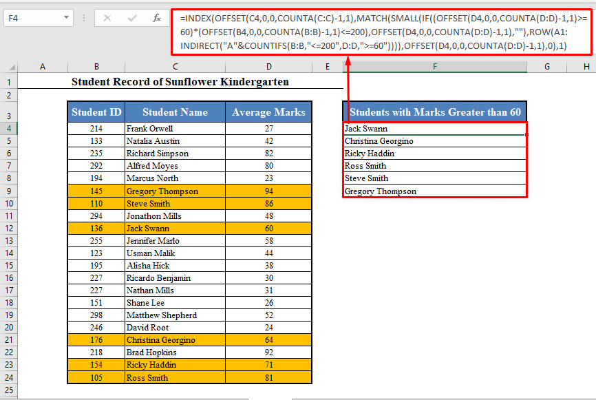 Dynamic List Based on Multiple Criteria with INDEX-MATCH Function