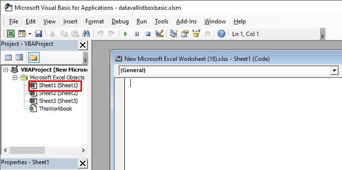 VBA Window Opened in Excel