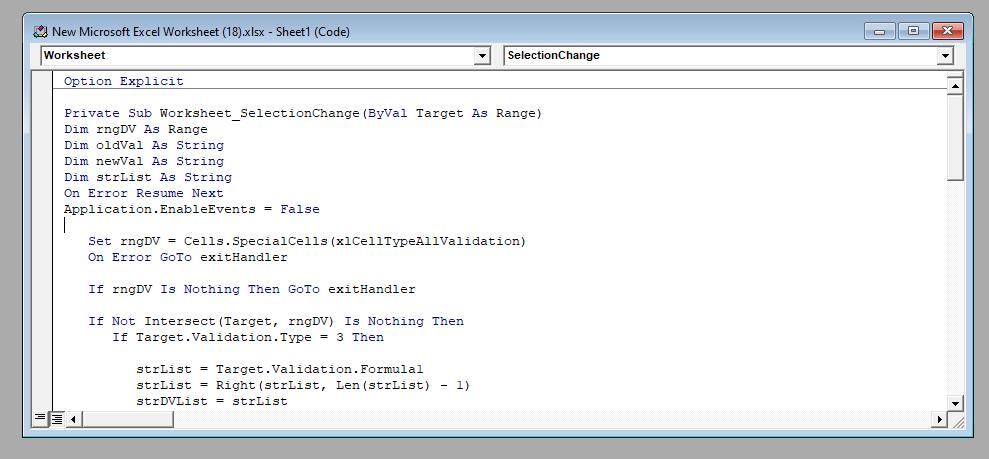 VBA Code to Create Multi Select Listbox