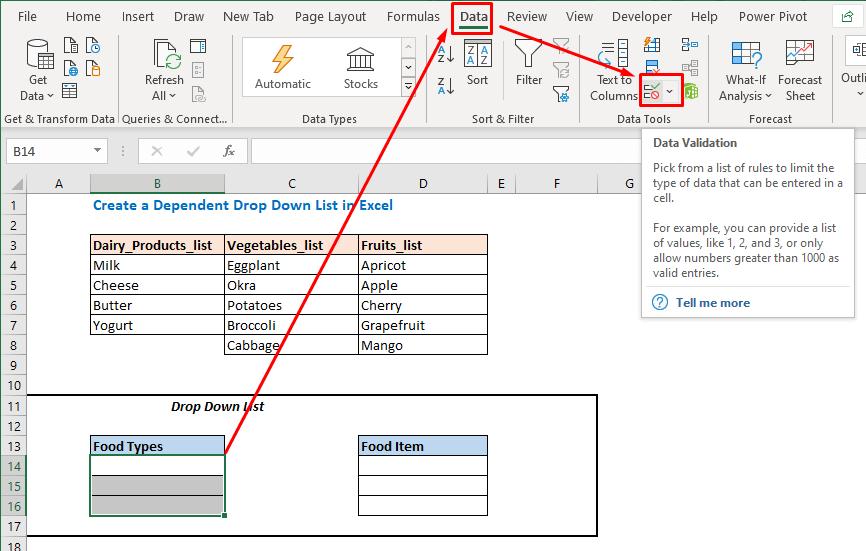 Open Data Validation option