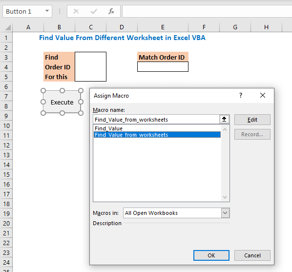 Then assign the macro code to the button