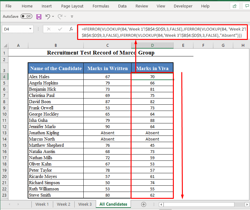 IFERROR and VLOOKUP Formula with Multiple Sheets