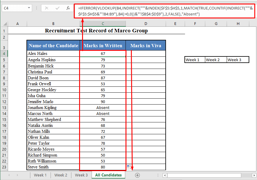 INDIRECT and VLOOKUP Function with Multiple Sheets