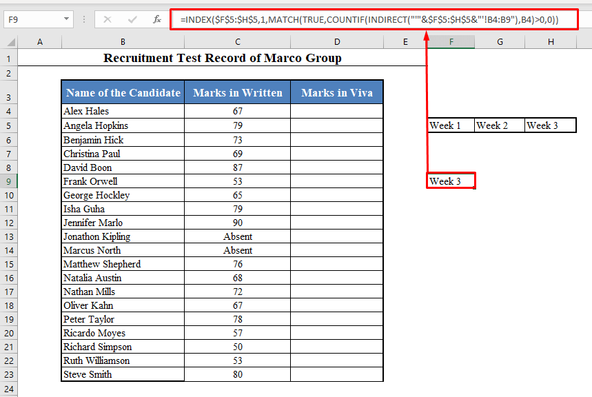 Name of the Worksheet Where the Value is Present