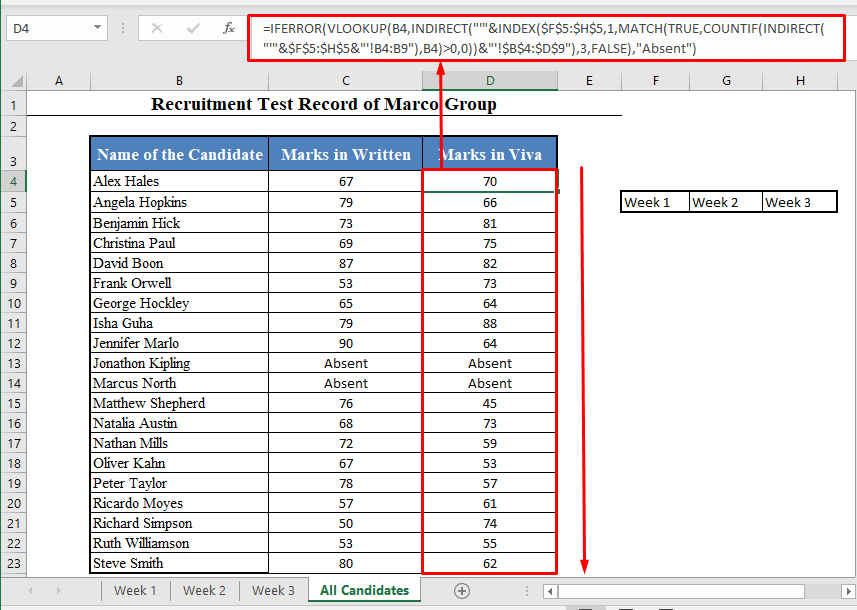 VLOOKUP Function to Collect Data from Multiple Cells