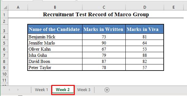 Data Set for VLOOKUP Formula with Multiple Sheets