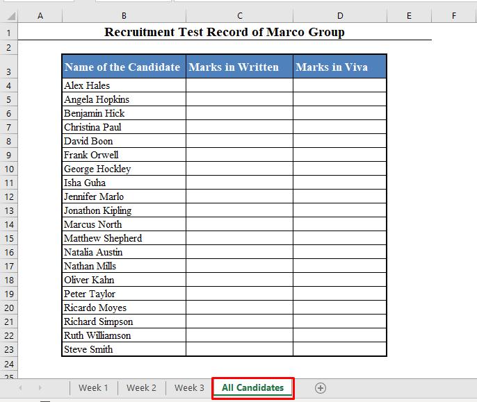 New Worksheet for VLOOKUP Formula with Multiple Sheets