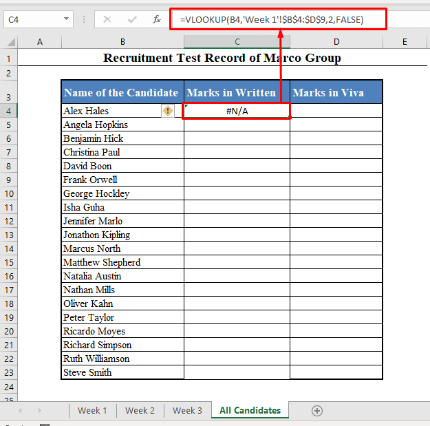 VLOOKUP Formula with Multiple Worksheets