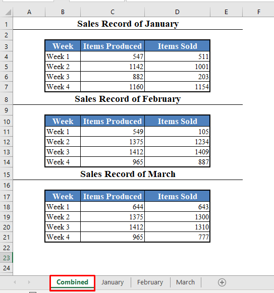 Pull Data from Multiple Worksheets Using a Macro