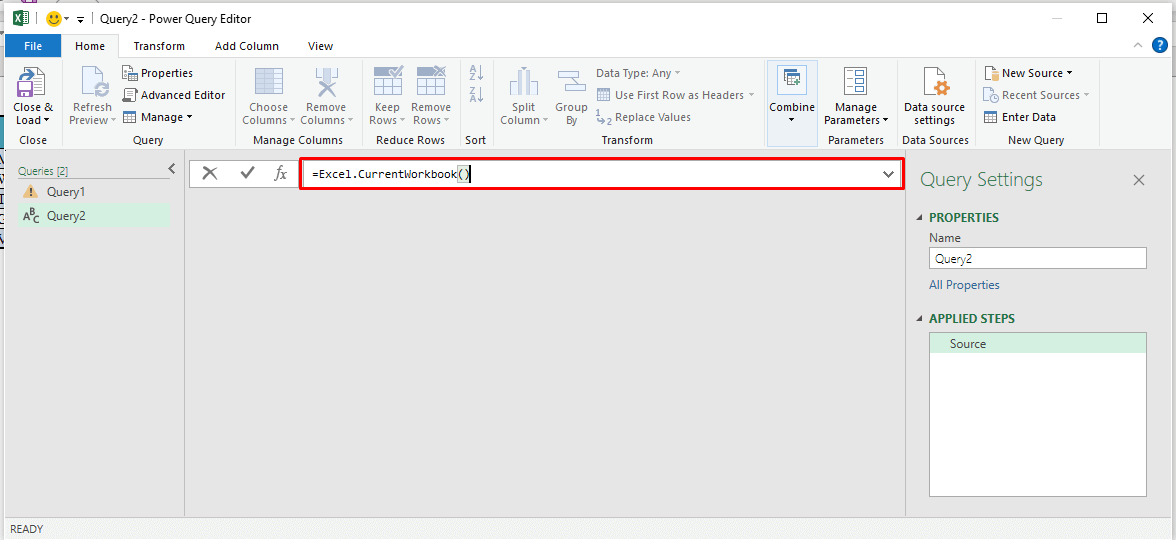 Writing Formula in the Power Query Editor