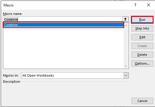 Macros Dialogue Box in Excel