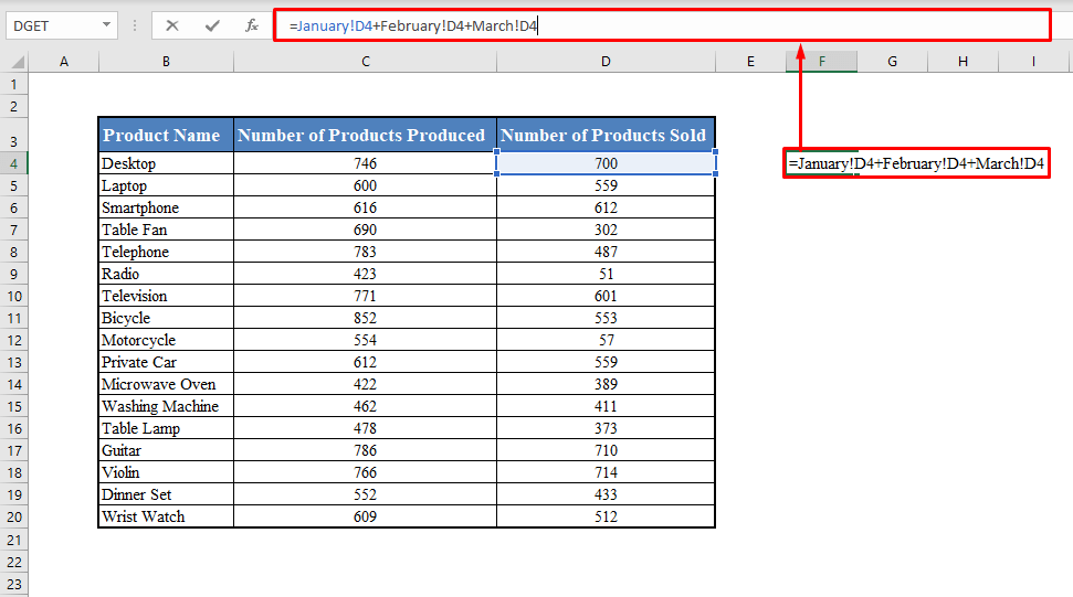 Formula with Cell Reference from Multiple Worksheets