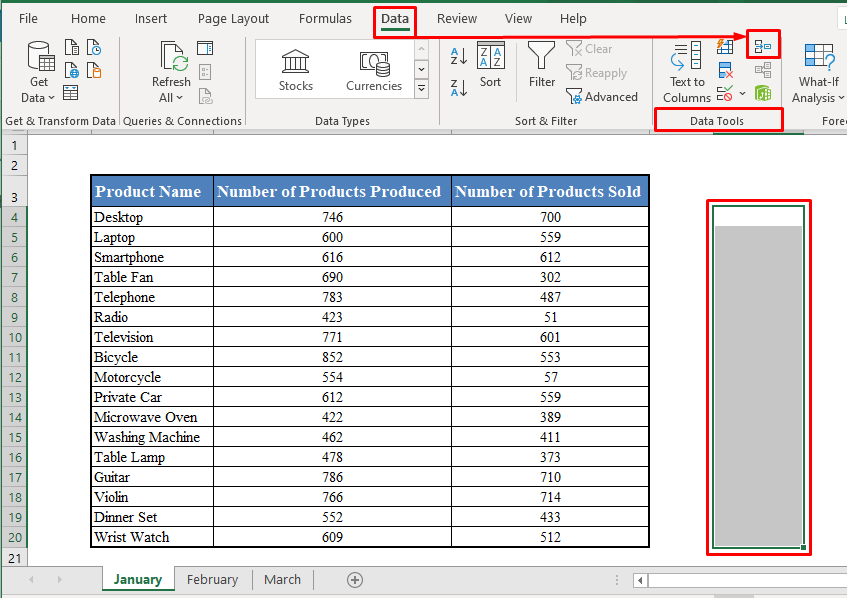 Consolidate Tool in Excel Toolbar