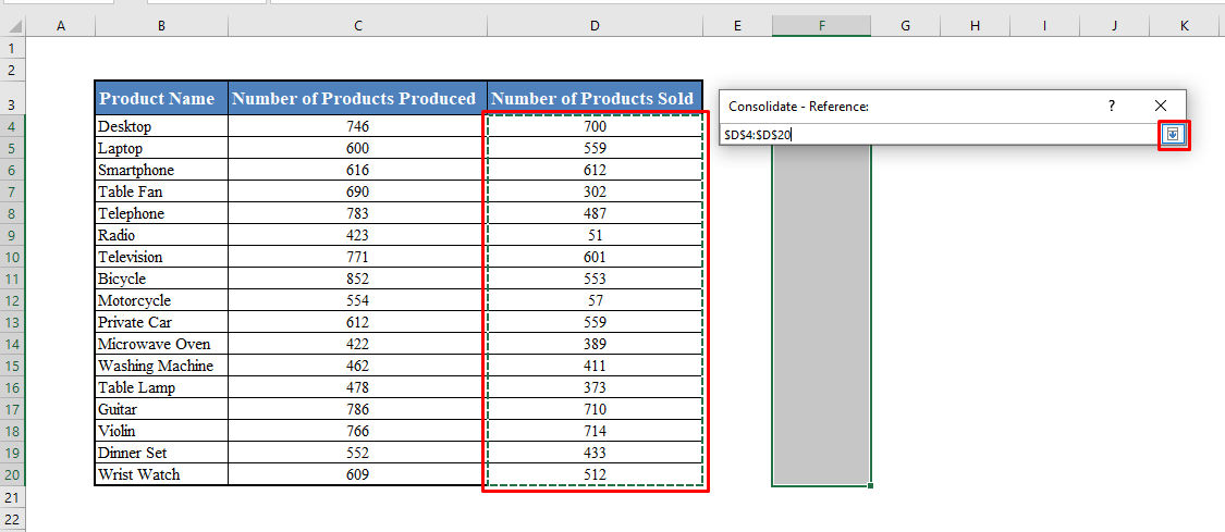 Selecting Range of Cells in Consolidate Box