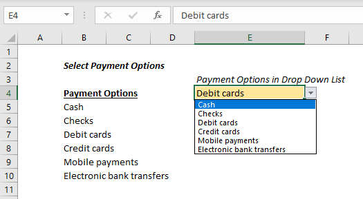 How to Remove Drop-Down List in Excel