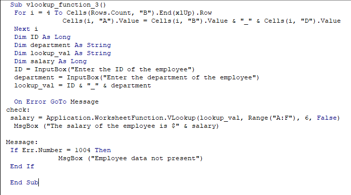 Now again go to the VBA console and enter the full code and run again