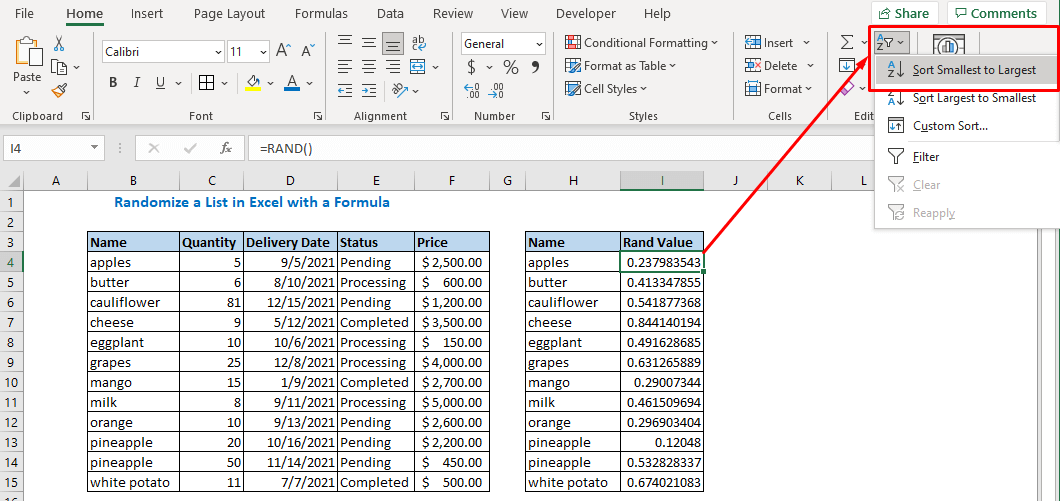 select Sort Smallest to Largest