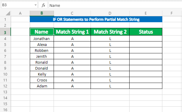 Using IF OR Formula to perform partial match string