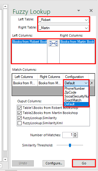 Fuzzy Lookup Window in Excel