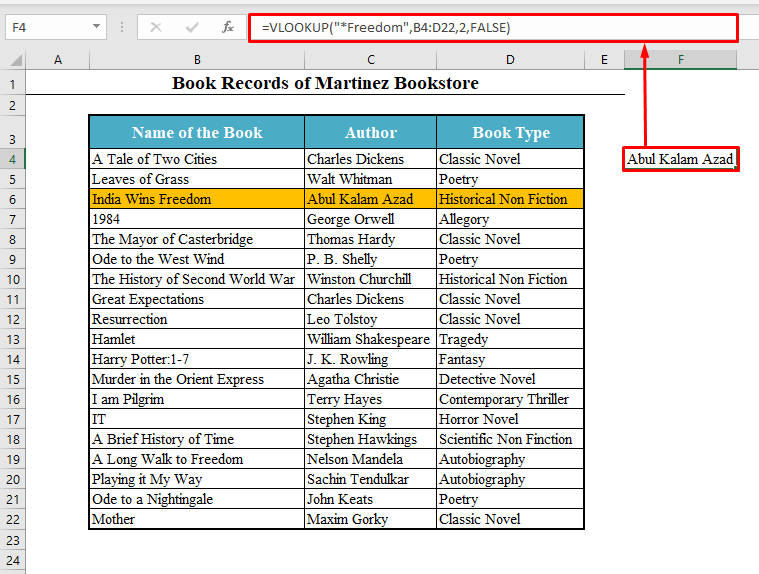 Asterisk to VLOOKUP Partial Text from a Single Cell